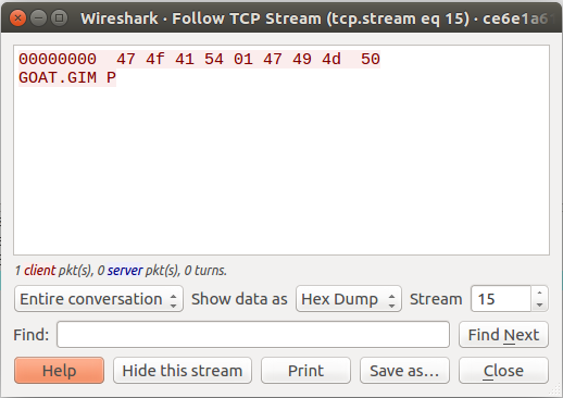 TCP Stream 15